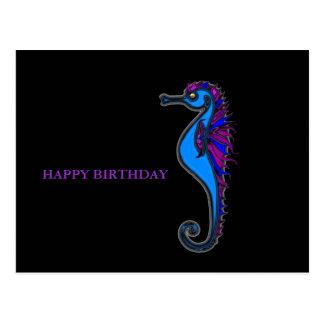 Funny seahorse postcard