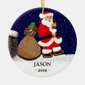 Funny Selfie Christmas Ornament