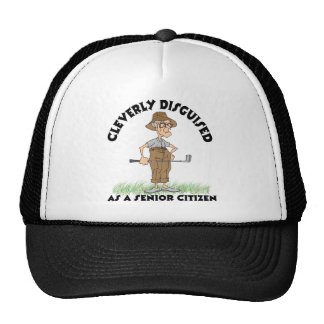 Funny Senior Citizen Golfer Cap