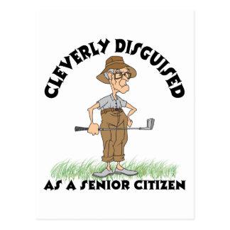 Funny Senior Citizen Golfer Postcard