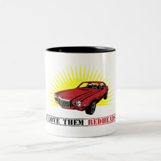 Funny Seventies Muscle Car Two-Tone Mug