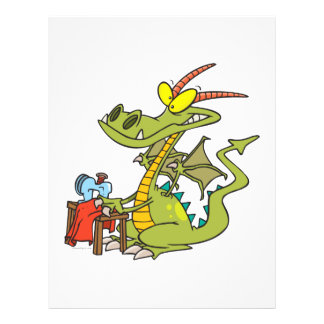 funny sewing domesticated dragon cartoon personalized flyer