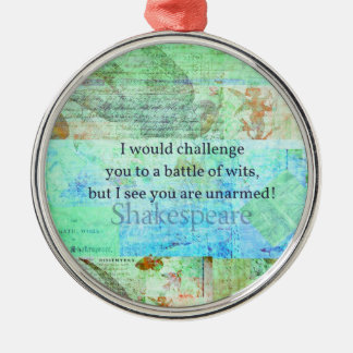 Funny Shakespeare insult quotation Elizabethan art Christmas Ornament