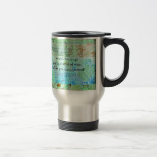 Funny Shakespeare insult quotation Elizabethan art Travel Mug