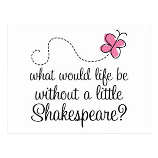 Funny Shakespeare Quote Gift Postcard