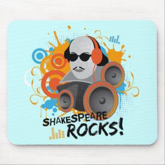 """Funny Shakespeare Slogan Gift """"Shakespeare Rocks"""" Mouse Mat"""
