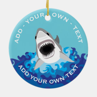 Funny Shark Attack Christmas Ornament