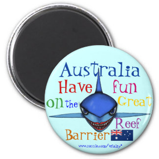 Funny shark Australia Great Barrier Reef magnet