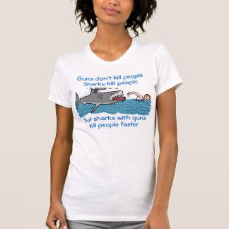 Funny Shark Gun Control T-Shirt