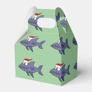 Funny Shark in Santa Hat Christmas Art Favour Box