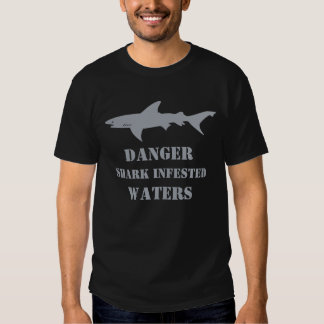 Funny Shark Infested Waters Scuba Diver Gift Tshirts