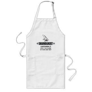 Funny Shark Long Apron