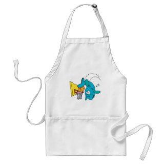 funny shark playing basketball standard apron