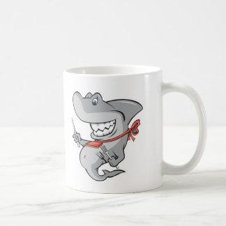 funny shark ready to eat basic white mug