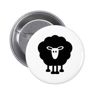 Funny sheep 6 cm round badge