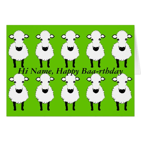 Funny Sheep Birthday, baa rthday, add name front