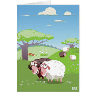 Funny Sheep Cards