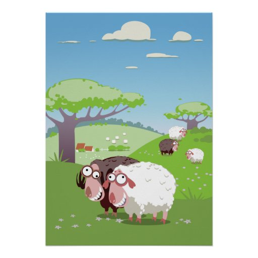 Funny Sheep Poster