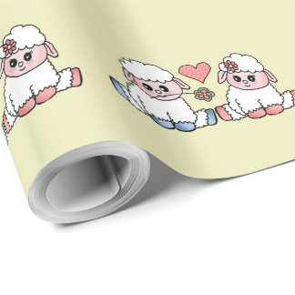 funny sheep wrapping paper
