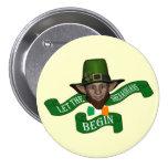 Funny shenanigans St Patrick's day 7.5 Cm Round Badge