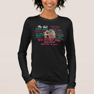 Funny Shirt,  Hump Day Camel (full text) Long Sleeve T-Shirt