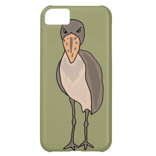Funny Shoebill Bird Design iPhone 5C Case