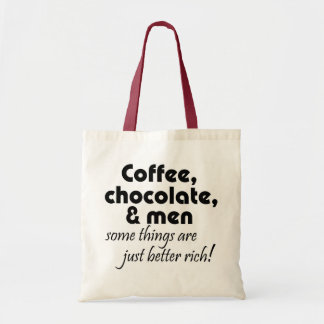 Funny shopping tote bags womens coffee joke gifts