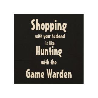 Funny Shopping with your husband wall art