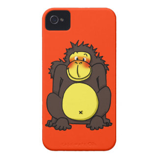 Funny shy gorilla iPhone 4 case