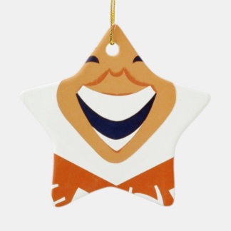 Funny side up! christmas ornament
