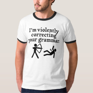 "Funny ""Silently Correcting Your Grammar"" Spoof T-Shirt"