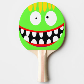 funny silly cartoon smile ping pong paddle