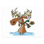funny silly christmas moose cartoon