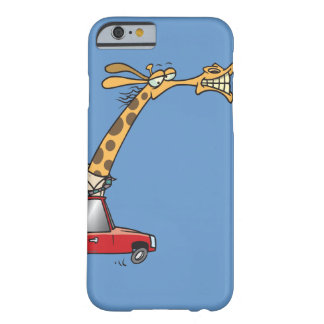 funny silly giraffe in a car commuting barely there iPhone 6 case