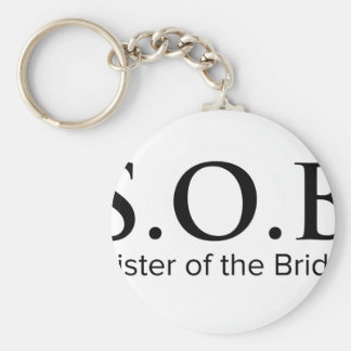 Funny Sister of The Bride Basic Round Button Key Ring
