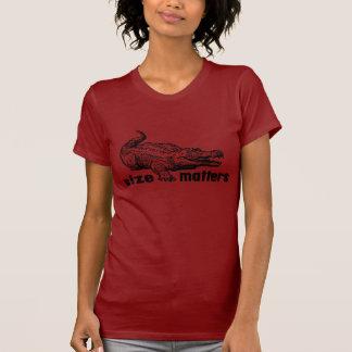 Funny SIZE Matters - Alligator or Crocodile T Shirt