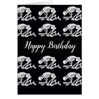 Funny Skeleton Birthday Card