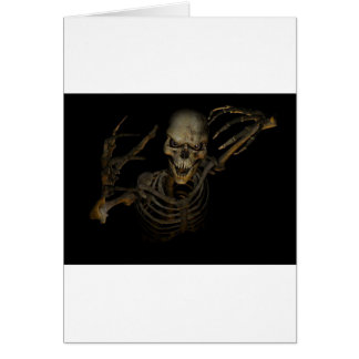 Funny Skeleton Card