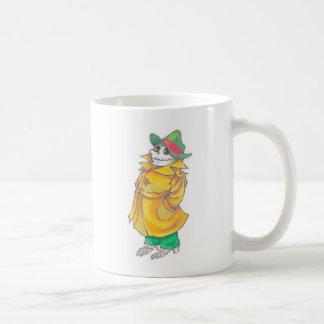 funny skeleton detective hot beverage mug