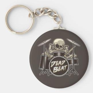 Funny Skeleton Drummer Key Ring