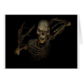 Funny Skeleton Greeting Card