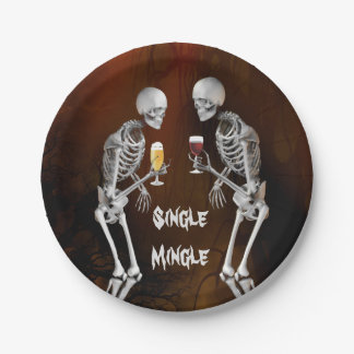 Funny Skeletons Cocktail Party Paper Plate