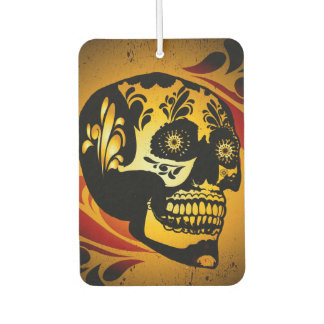 Funny skull car air freshener