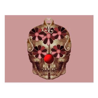 Funny skull postcard