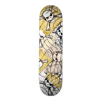 Funny Skull Stamp Skate Board
