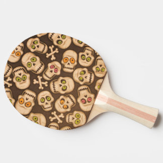 funny skulls heads ping pong paddle