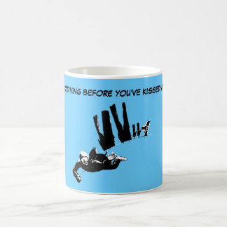 Funny sky diving coffee mug