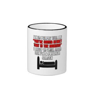 Funny 'sleep 'til noon' mug