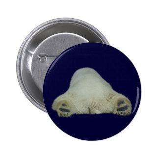 Funny Sleeping Polar Bear Button