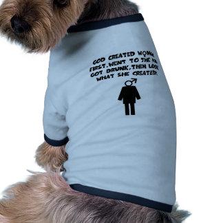 Funny slogan anti men pet t-shirt